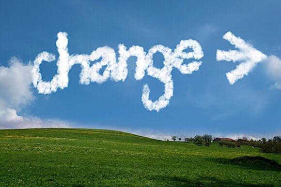 雲にchange→の文字